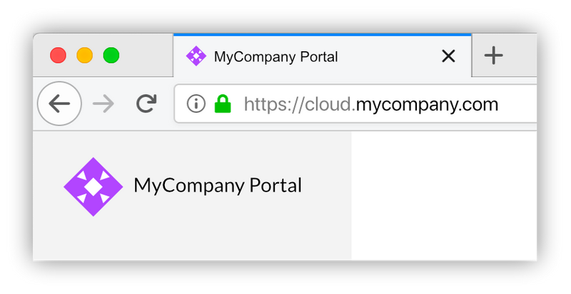 A SixEye portal at a custom domain, with custom branding